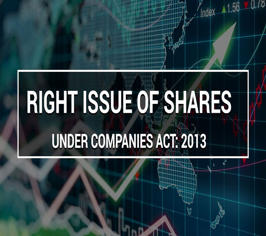 Rights Issue of Shares under Companies Act 2013